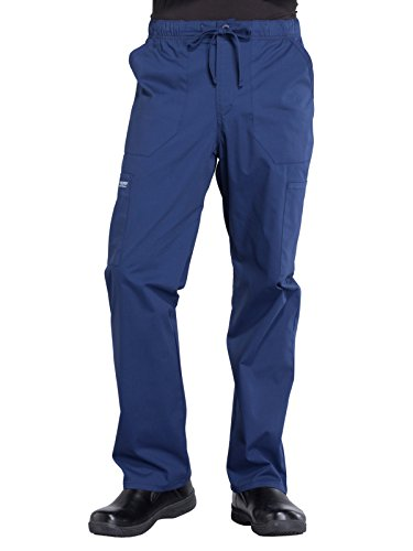 368f1e07e89 Cherokee WW Professionals WW190 Men's Tapered Leg Drawstring Cargo Pant Navy  M