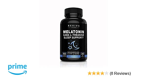 Amazon.com: Melatonin, GABA, L-Theanine - Sleep and Relaxation Support 60 Veggies Capsules - Also Includes Magnesium, 5-HTP, Phellodendron Root Powder ...