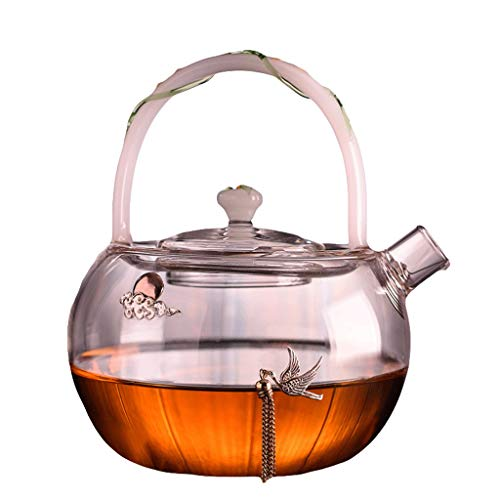Glass Tea Set Elegant Cup Teapot High Temperature Thickening Teapot Stainless Steel Filter Leak Office Tea Ceremony Pot Household Kettle 280ml Tea Pots (Style : B)
