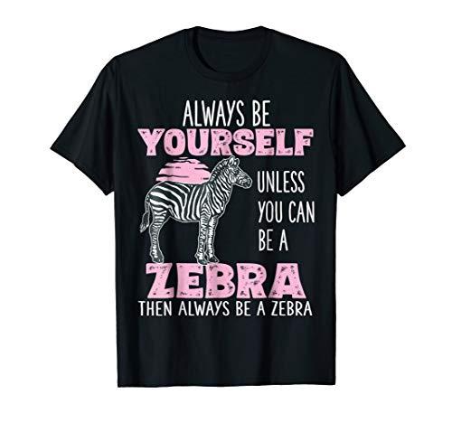 Cute Funny Zebra Shirt Gifts for Girls Women Kids