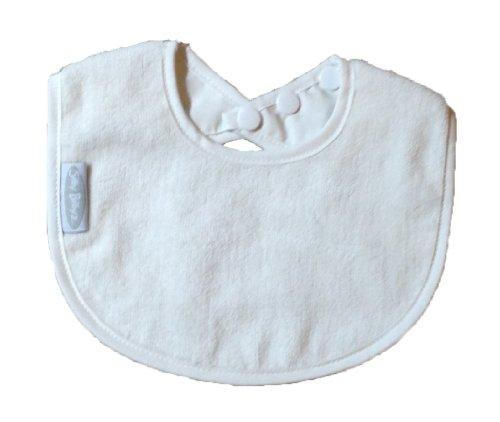 - Silly Billyz Organic Toweling Biblet - Snow 0 - 2 Yrs