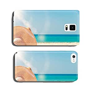 girl lies on the white sand on the beach cell phone cover case Samsung S6