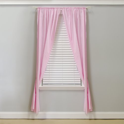 Pam Grace Creations Curtain Panels, Pam's Pink, Baby & Kids Zone