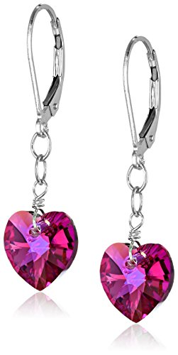 Sterling Swarovski Elements Borealis Heart Shape