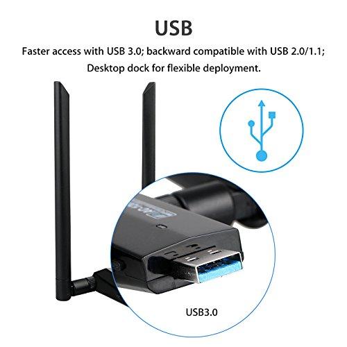 LinkStyle Long Dual WiFi 5GHz Network Desktop Laptop, Support Mac