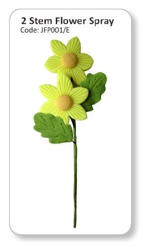 JEM Two Stem Flower Spray Light Green