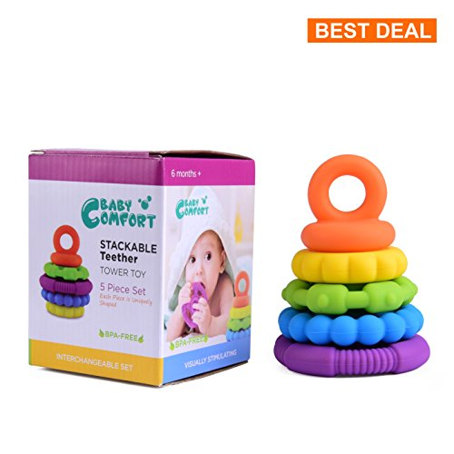Stacking Baby Teether Toy Skills Premium product image