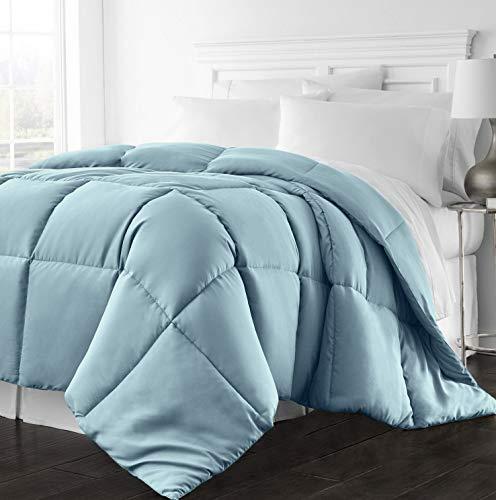 Hemau Premium New Soft 1300 Series - All Season - Luxury Goose Down Alternative Comforter - Hypoallergenic - Twin/Twin XL - Sky Blue | Style 503192343