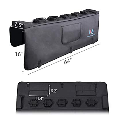 MICTUNING Tailgate Pad for Trunk with Secure Bike Frame Straps Tailgate Protection Pad with Tool Pocket: Automotive