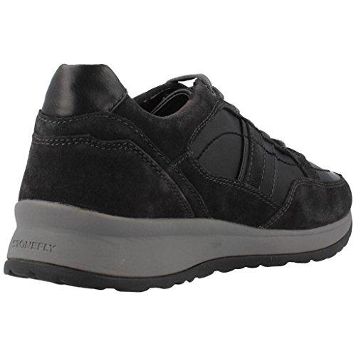 Stonefly 105848 Sneakers Hombre Cuero Rigido Negro