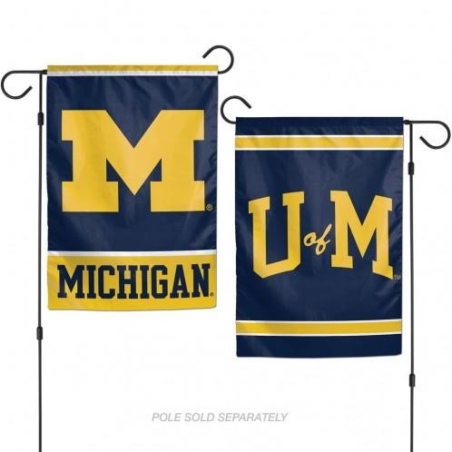 WinCraft NCAA Michigan Wolverines 12 x 18 inch 2-Sided Garden Flag (Ncaa Garden Decorations)