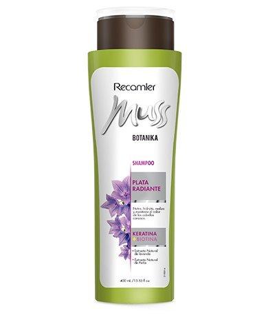 Amazon.com : MUSS BOTANIKA PLATA RADIANTE SHAMPOO / Grey hair color care shampoo 400gr/ 13.53oz : Beauty