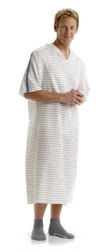 Overlap Back Tie Patient Gowns