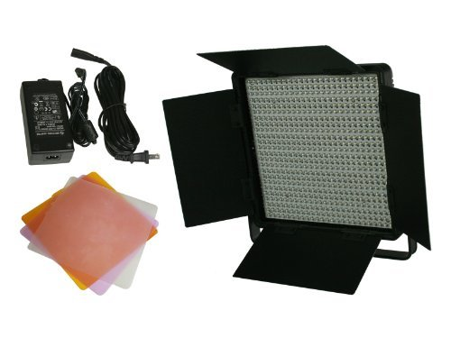 600 LED Video Lite Panel Studio Photography Lighting Sony V Mount, Dimmer Switch, 15V Output CN600SA by NG