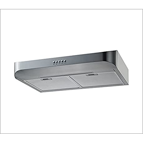 Winflo 30 Under Cabinet Stainless Steel European Slim Design Kitchen Range Hood Push Button Control Included Dishwasher Safe Aluminum Filters And LED Light