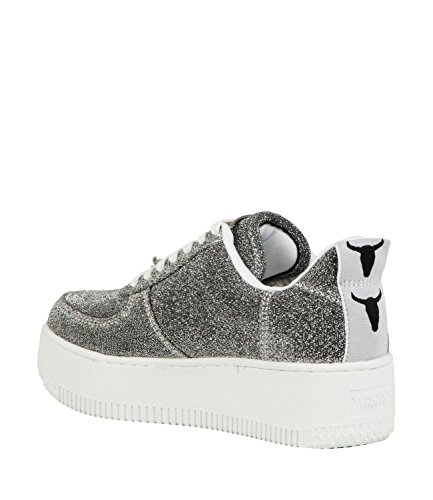 Argento WINDSOR Sneakers with Woman Shoes RACERR Lurex SMITH Platform Argento lurex RqrxR70a
