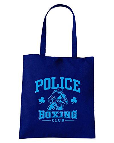 T-Shirtshock - Bolsa para la compra TBOXE0052 irish police boxing Azul Marino