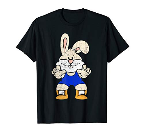Wrestler Bunny T-Shirt Wrestlings Boys Easter Outfit