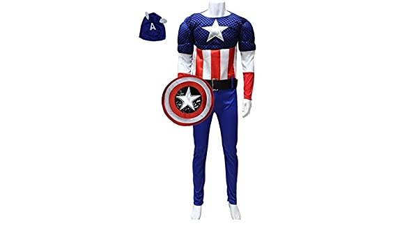 JX & JX Disfraz de adulto Halloween cosplay diseño de Captain ...
