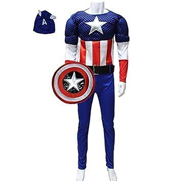 GH adulto disfraz de Halloween traje Cosplay Capitán América ...