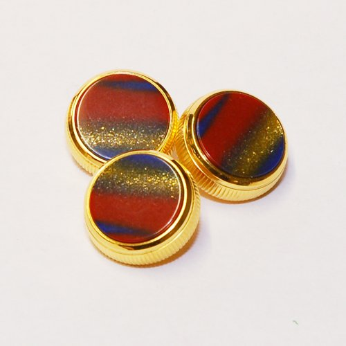 BACH Stradivarius Trumpet Finger 24K Gold-Plated Buttons Set of 3 Midas Touch