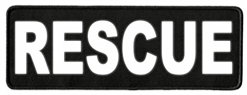 Rescue ID Patch - 11x4 - Reflective Lettering - Black Twill Backing - Hook Backing