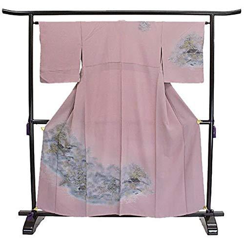 付下げ 金彩 山水 風景 ピンク フォーマル 上品 シック 正絹 着物 きもの リサイクル レディース 70181560