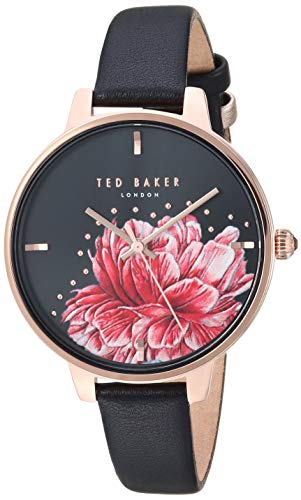 Ted Baker Women's Kate Analog-Quartz Watch with Leather Strap, Rose Gold, 11.2 (Model: TE50005015)