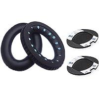 Bingle Cusions Quietcomfort 15 Ear pads for Bose QC15 QC25 QC35 Ae2 Ae2i Ae2w Around Ear Headphones Earpads and Inner Foam Mats( 1 Pair Black)