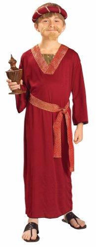 Child Costume Biblical Times Wiseman (Burgandy) (Wiseman Childrens Costumes)
