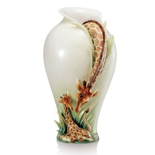 Franz Endless Beauty Giraffe Porcelain Vase 4 1/2 x 5 x ()