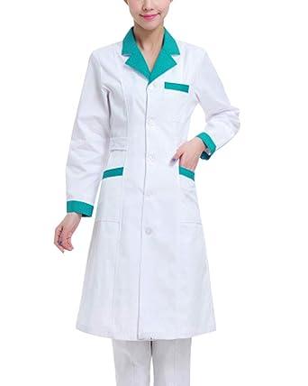 Hombre Mujer Bata De Laboratorio De Médico Uniforme ...