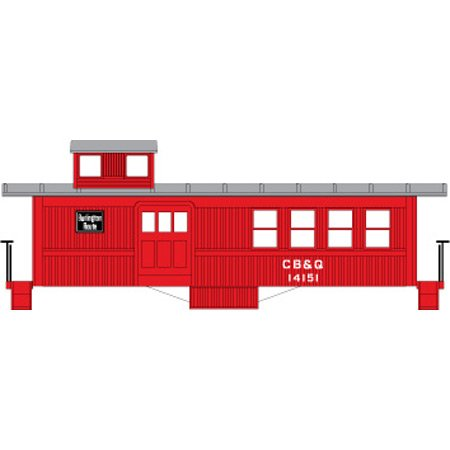 HO RTR Drover's Caboose, CB&Q - Drovers Caboose