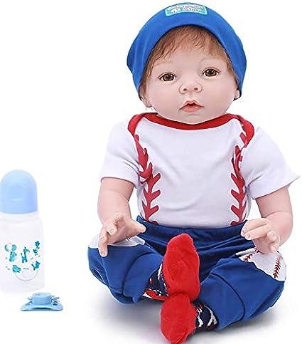 "Twins Reborn Baby Dolls 22/"" Newborn Babies Girl+Boy Vinyl Silicone Handmade Doll"