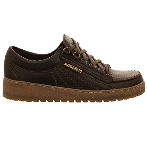 Mephisto Mens Rainbow Leather Shoes Dark Brown