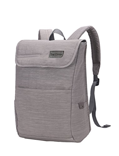 Tom Clovers Nylon Laptop Backpack Rucksack Knapsack Bag 15.6-Inch-Gray