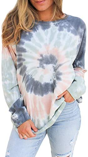 CANIKAT Women's Lightweight Crewneck Long Sleeve Sweatshirts Casual Loose Fit Pullovers Tops Tee Shirts