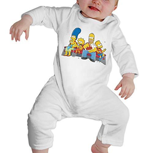 Sim-p-Son Family Long Sleeve Baby Onesie Bodysuits (12M) -