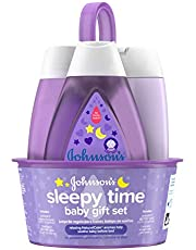 Johnson's Sleepy Time Baby Gift Set with Relaxing NaturalCalm Aromas, Bedtime Baby Essentials, Hypoallergenic & Parben-Free (4 items)
