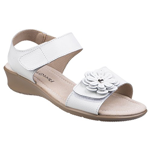 White Foster amp; Womens Sapphire Fastening Ladies Fleet Sandals Touch 8q5WTpaT