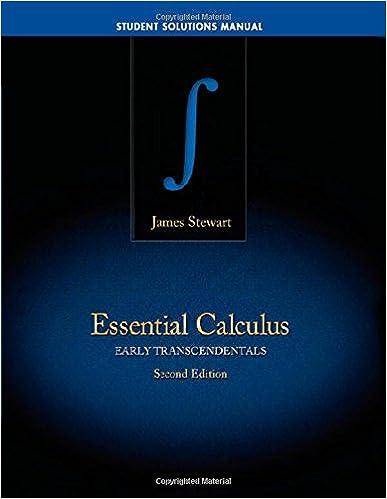 essential calculus homework solutions