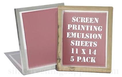 amazon com yudu style screen printing emulsion sheets 11x14 5 pack