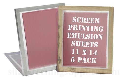 Yudu Style Screen Printing Emulsion Sheets 11x14 (5 Pack) Emulsion Film (SHIPS FROM USA)