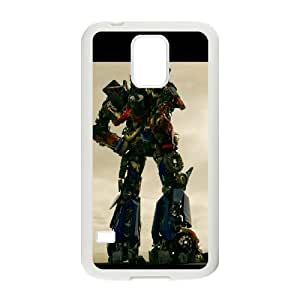 Generic hard plastic Optimus Prime Cell Phone Case for Samsung Galaxy S5 White ABC83