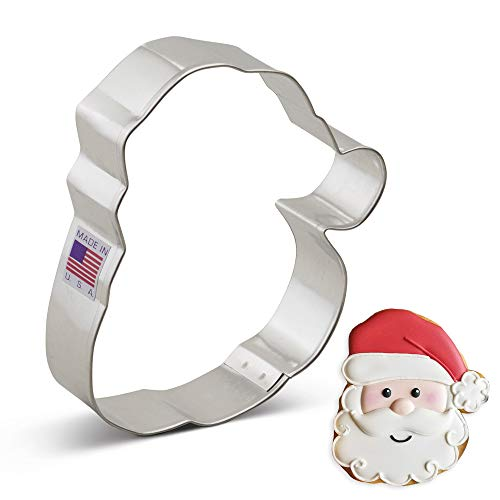 Ann Clark Santa Face Cookie Cutter - 4.25 Inches - Tin Plated Steel