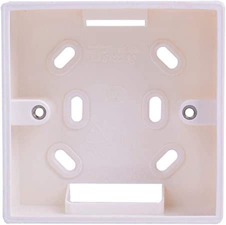 Caja de montaje externa 86 mm * 86 mm * 34 mm para interruptores y enchufes estándar de 86 mm * 86 mm Se aplican para cualquier posición de la superficie de la pared: Amazon.es: Hogar