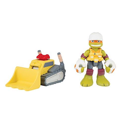 Teenage Mutant Ninja Turtles Pre-Cool Half Shell Heroes Michelangelo Action Figure with Mini Bulldozer