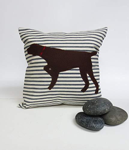 (ances Lincol German Shorthair Pointer Silhouette Pillowcase Your Choice of Ticking Stripe Pillowcase Decorative Accent Throw Pillowcase Cushion Cover Dog Pillowcase)