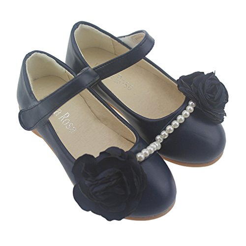 Bella Rosa Toddler Little Girls Dress Ballet Mary Jane Pearl Flat Shoes(Size6-11)New