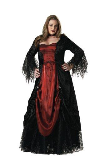 InCharacter Costumes Women's Gothic Vampiress Costume, Black/Burgundy, XXX-Large